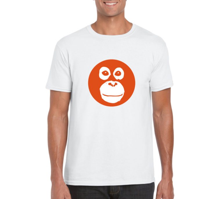mens white tee - front circle