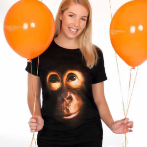 Ladies Black Orangutan Tee